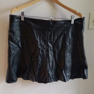 Maurices Black Faux Leather Skirt